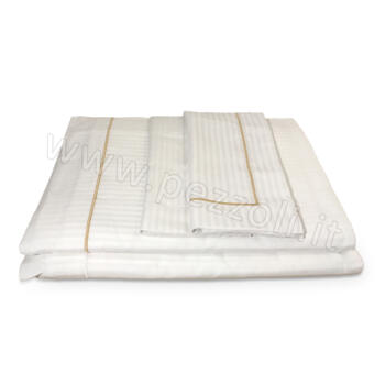 Rigatino Sheets embroidered