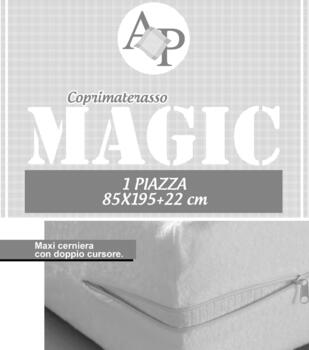 MAGIC Coprimaterasso IMPERMEABILE con zip 1P