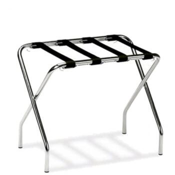 LUGGAGE RACK IN BRUSHED CHROMED STEEL
