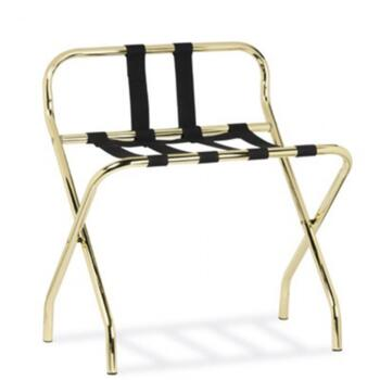 LUGGAGE RACK STAINLESS STEEL Brass finish High Back