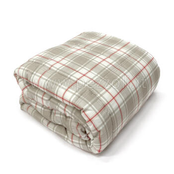 Quilted bedcover Tartan double